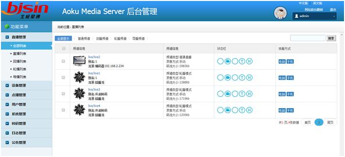 流媒体服务系统AMS